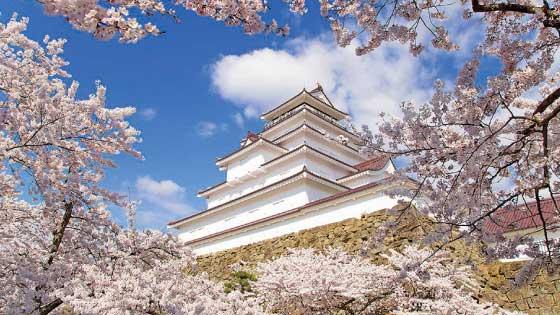 Tsurugajo Castle spring