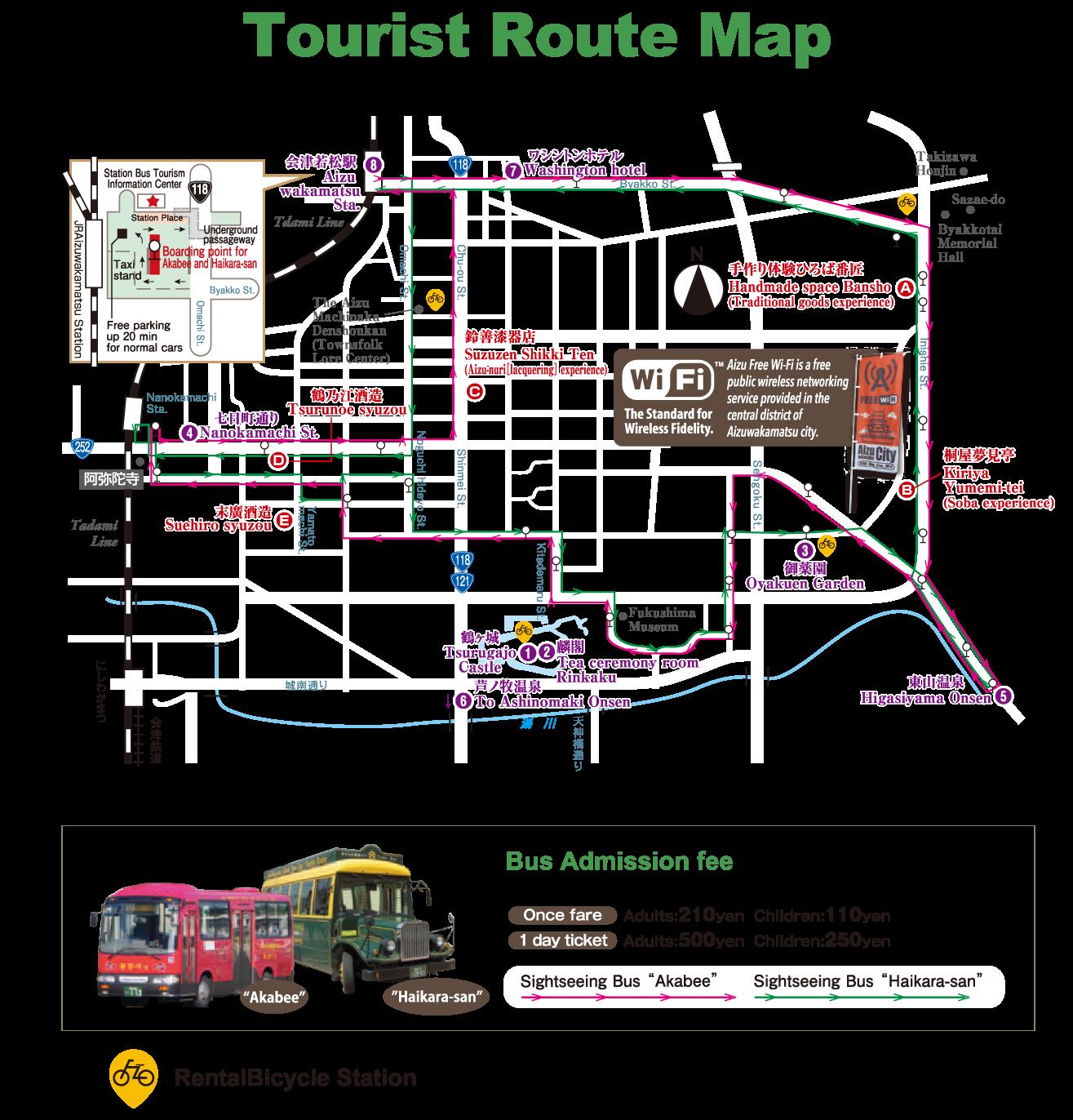 tourist route map